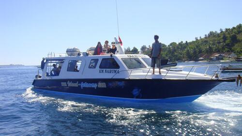 Veerboot van Lombok naar de Gili Eilanden of Bali, Indonesië