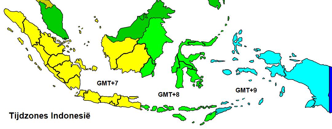 Tijdzones Indonesië